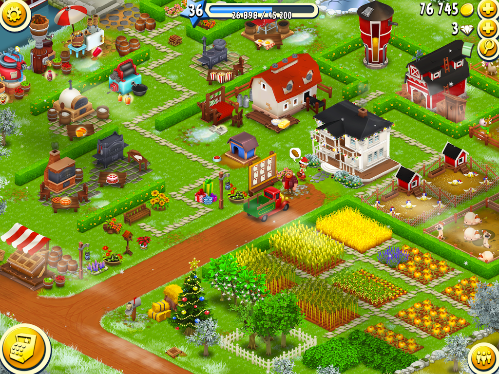 Hay day for Disposizione seminterrato di design gratuito